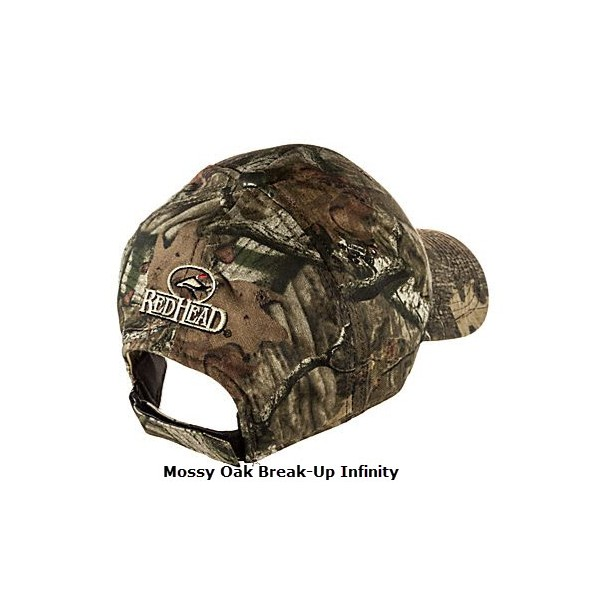 d5a2f0e482a21 ... Bass Pro Shops Silent-Hide Camo Hunting Cap with RedHead Logo ...
