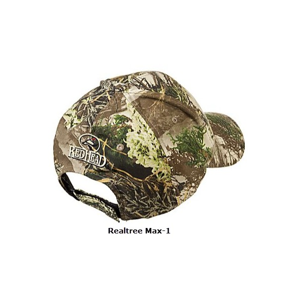 f40dc203058 Bass Pro Shops Silent-Hide Camo Hunting Cap with RedHead Logo ...